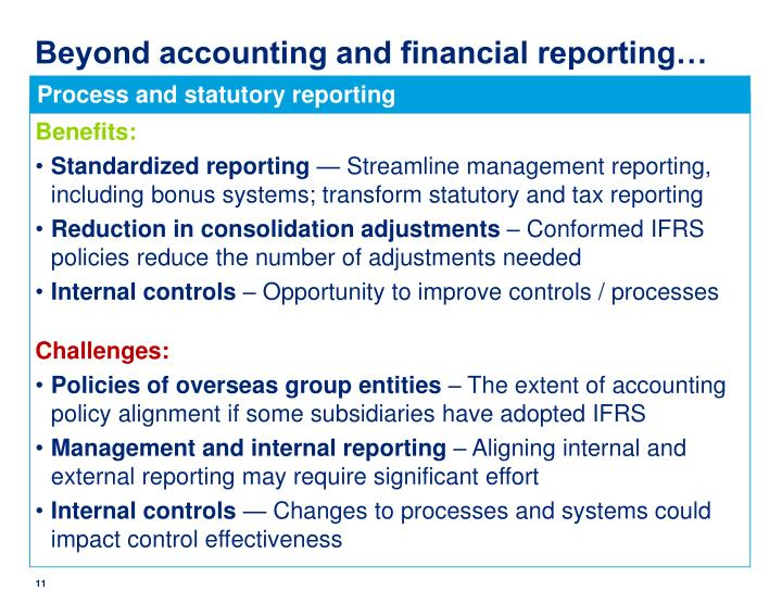 Beyond accounting and financial reporting…