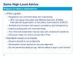 some high level advice