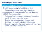 some high level advice1