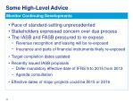 some high level advice4