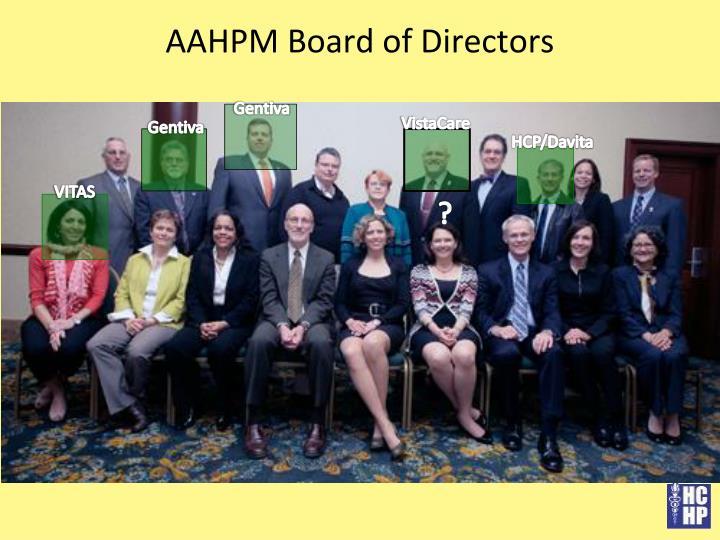 AAHPM Board of Directors