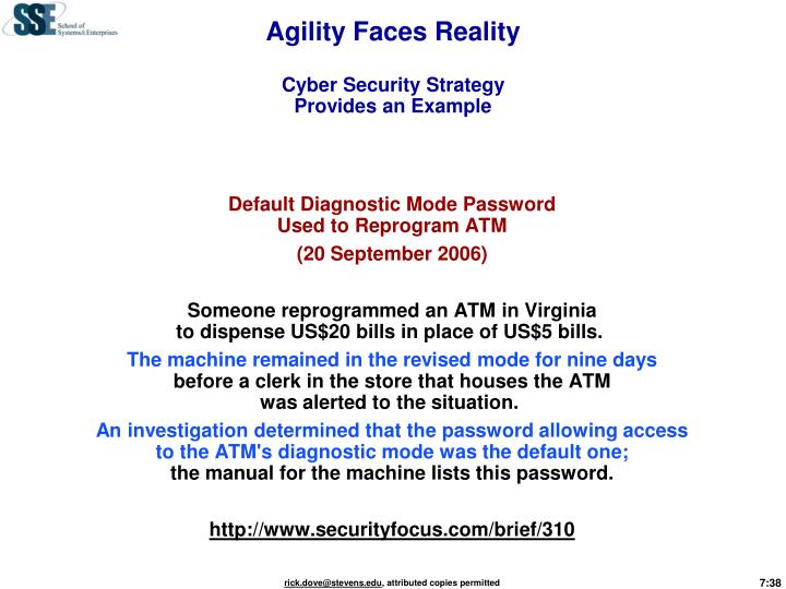Agility Faces Reality