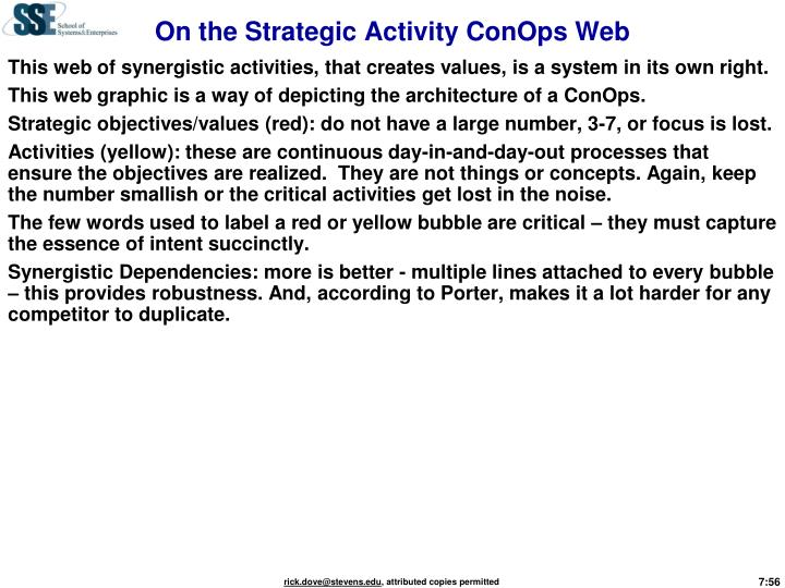On the Strategic Activity