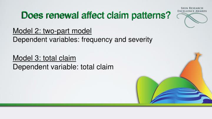 Does renewal affect claim patterns?