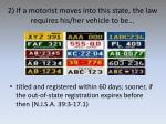 2 if a motorist moves into this state the law requires his her vehicle to be