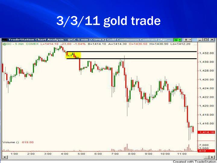 3/3/11 gold trade