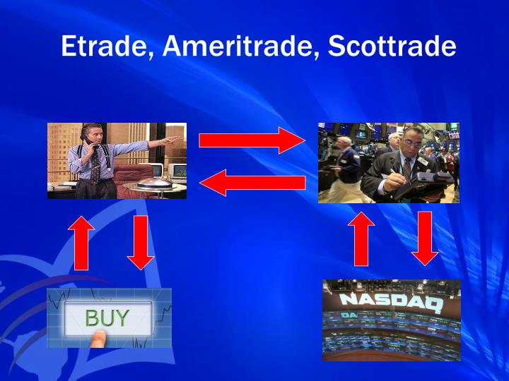 Etrade, Ameritrade, Scottrade