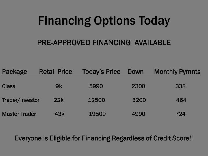 Financing Options Today