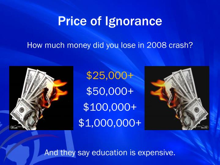 Price of Ignorance