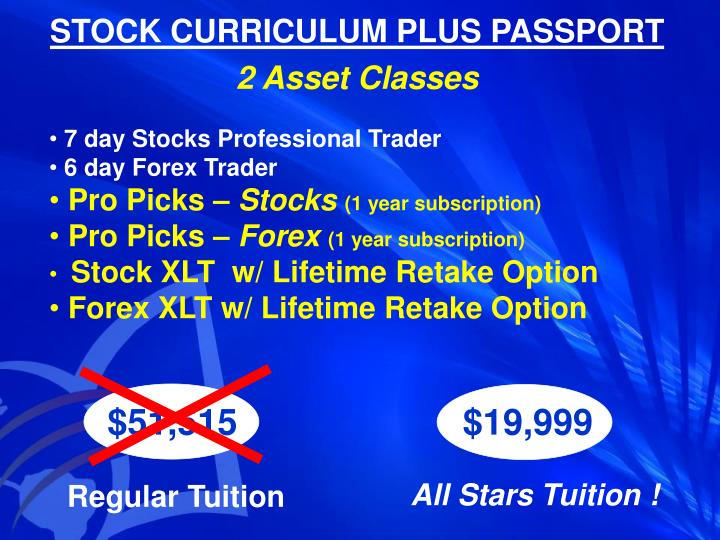 STOCK CURRICULUM PLUS PASSPORT