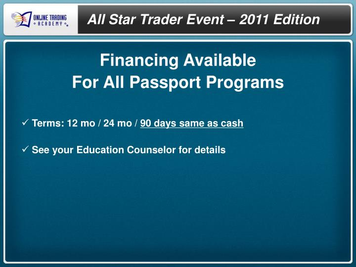 All Star Trader Event –