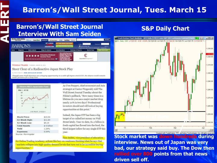 Barron's/Wall Street Journal, Tues. March 15