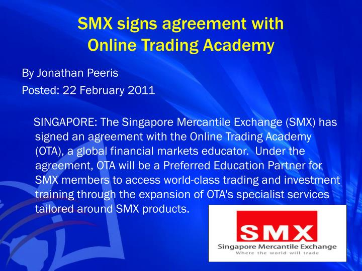 SMX signs agreement with
