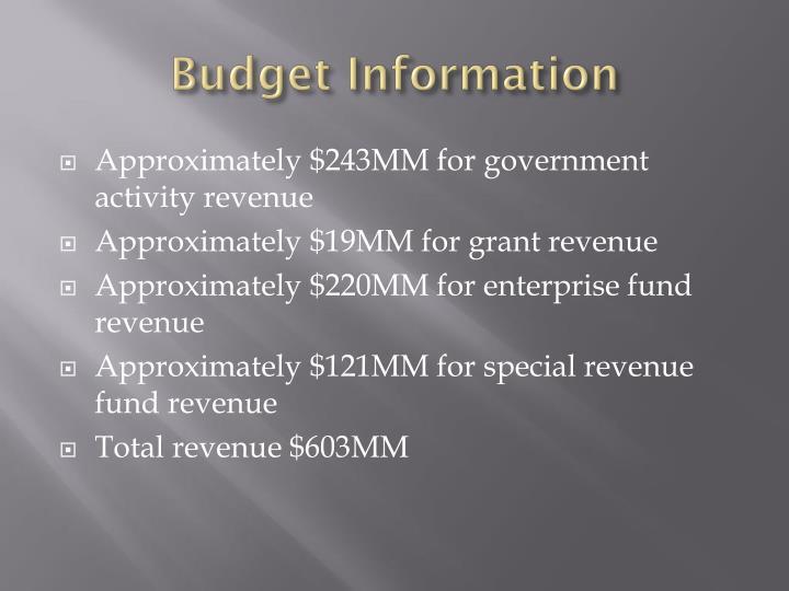Budget Information
