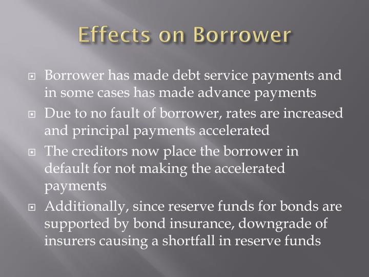 Effects on Borrower