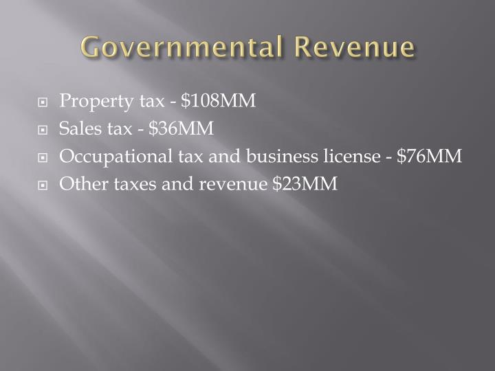 Governmental Revenue