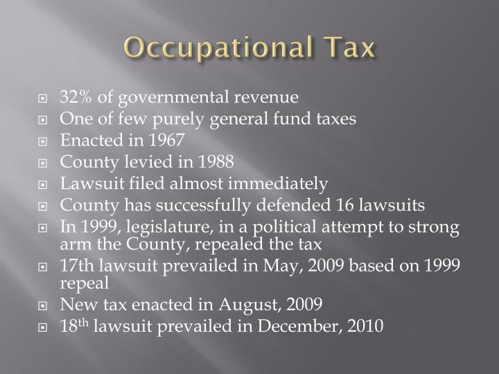Occupational Tax