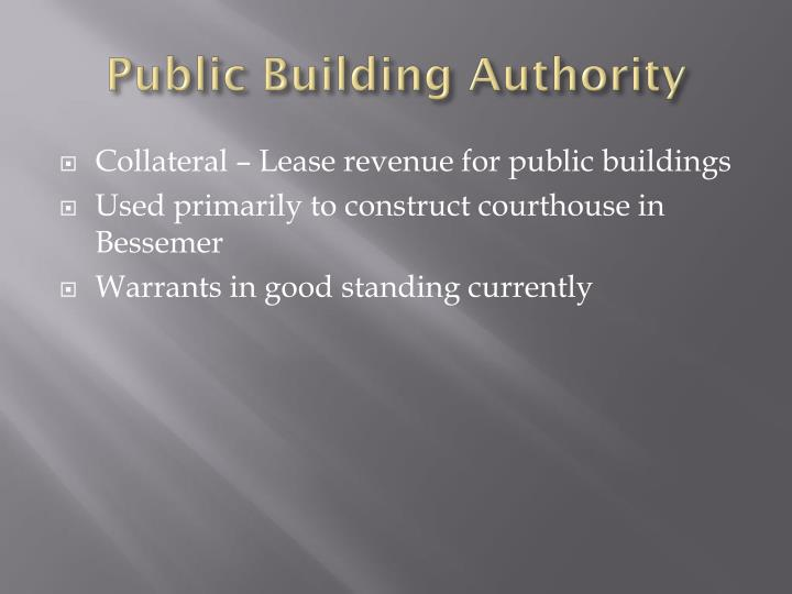Public Building Authority