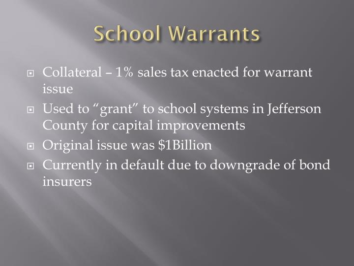 School Warrants