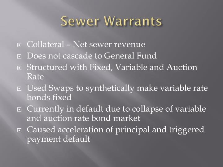 Sewer Warrants