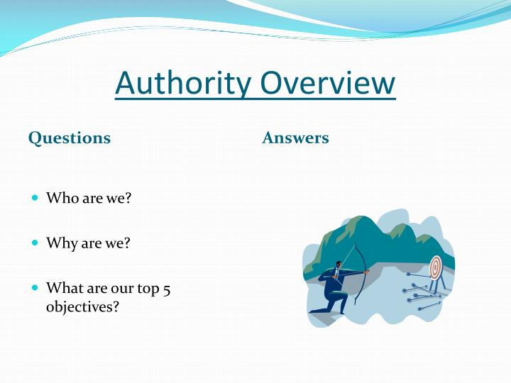 Authority Overview