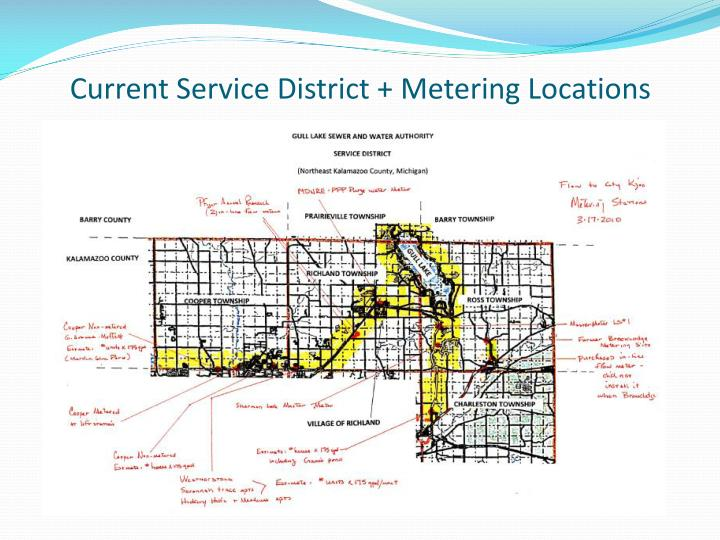 Current Service District + Metering Locations