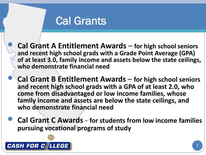 Cal Grant A Entitlement Awards