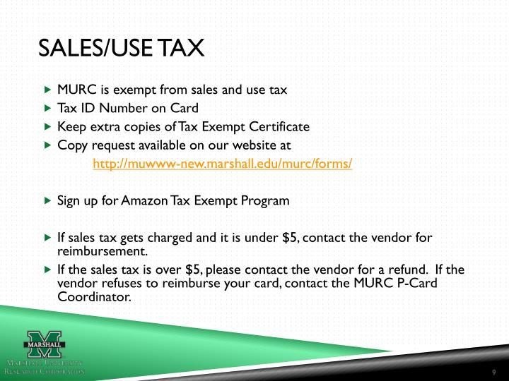 Sales/Use Tax