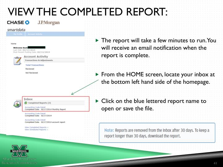 VIEW THE COMPLETED REPORT: