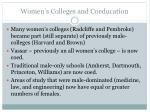 women s colleges and coeducation