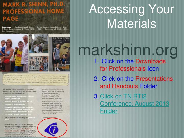 Accessing Your Materials