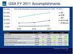 gsa fy 2011 accomplishments