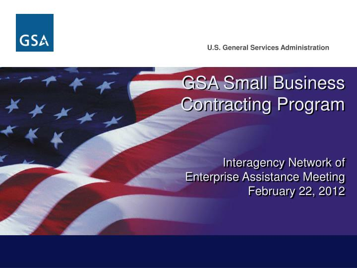 GSA Small Business Contracting Program