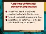 corporate governance executive compensation
