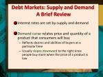 debt markets supply and demand a brief review