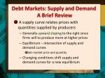 debt markets supply and demand a brief review1