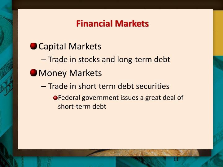 Financial Markets