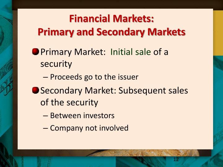 Financial Markets: