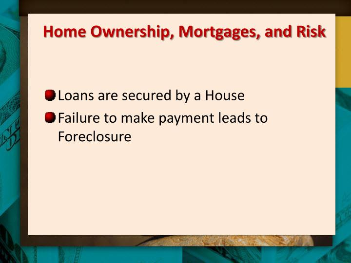 Home Ownership, Mortgages, and Risk