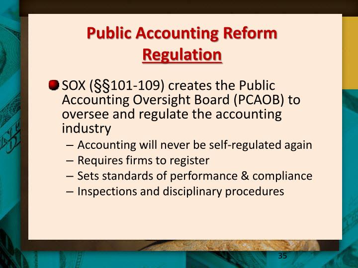 Public Accounting Reform
