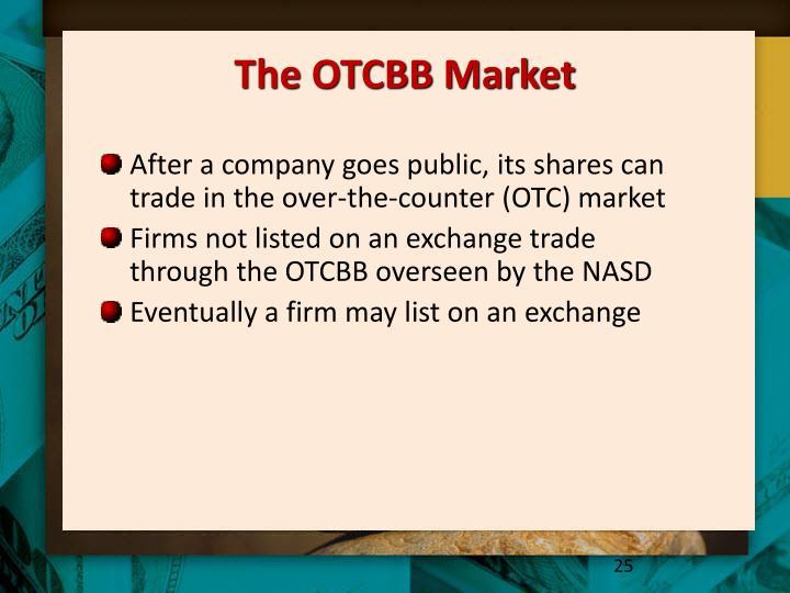 The OTCBB Market
