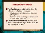 the real rate of interest