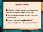 the term invest