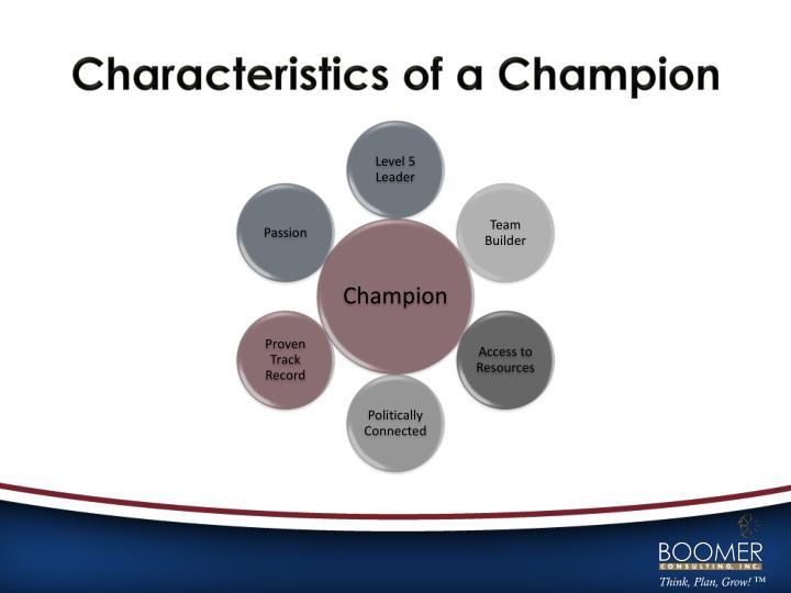 Characteristics of a Champion
