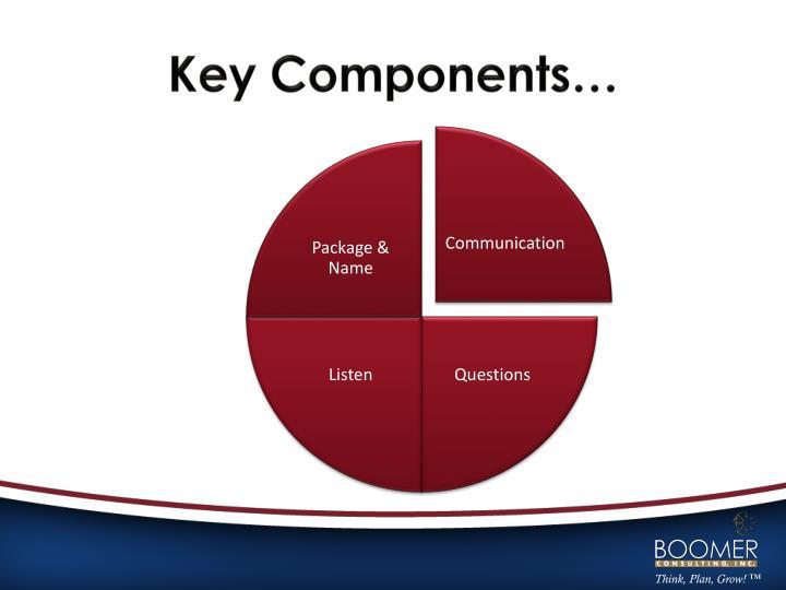 Key Components…