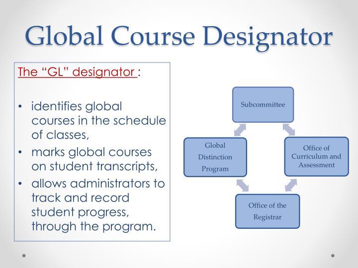 Global Course Designator