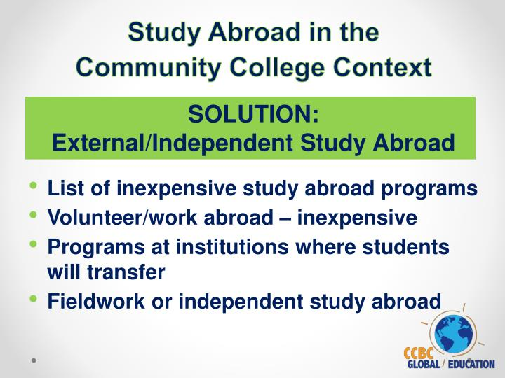 Study Abroad in the
