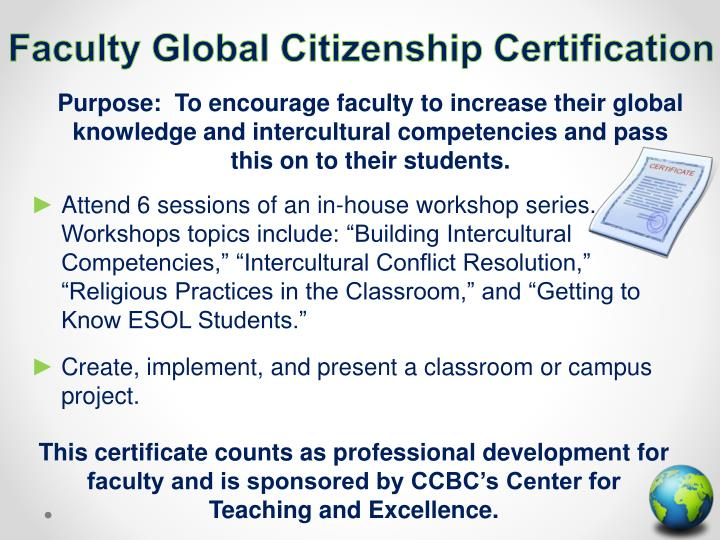 Faculty Global Citizenship Certification