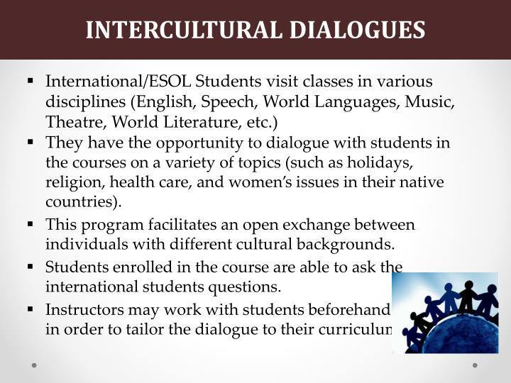 INTERCULTURAL DIALOGUES