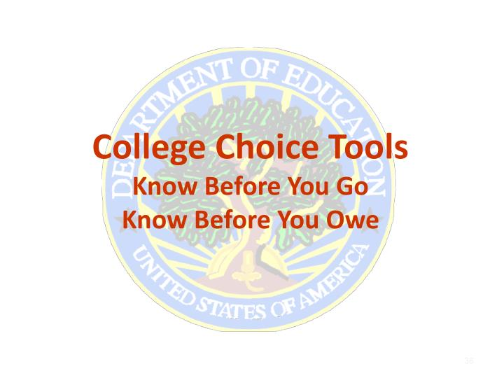 College Choice Tools